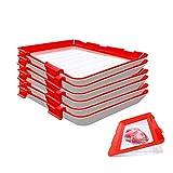 Bandeja de conservación de alimentos con sello al vacío, apilable y reutilizable, contenedor de...