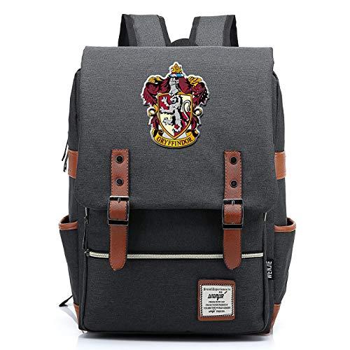Zaino di Harry Potter per bambina, borsa per libri leggeri, 7~15 gradi Pacchetto studenti Grifondoro grigio scuro