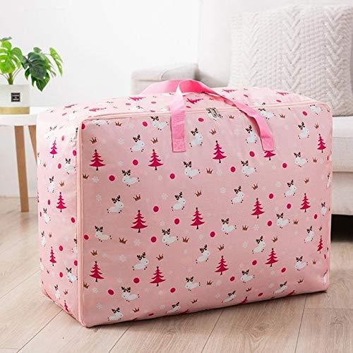 GXX Quilt Organizer Portable Clothes Storage Bag Printed Stroage Bag For Closet Folding Closet Organizer For Househould Item