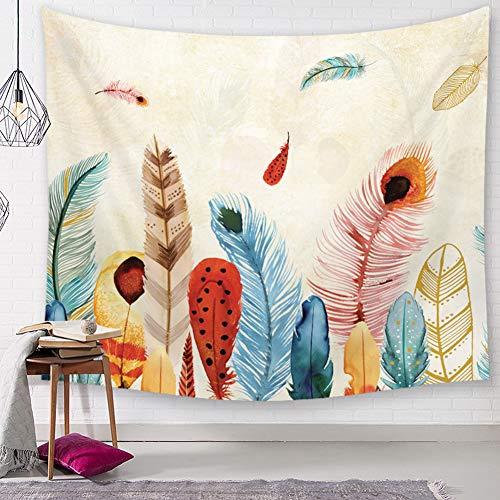 Aquarel wereldkaart eland hert bos zebra vis bloemen gevieder schilderij wandbehang behang heilige geometrie wandtapijt natuur dier achtergrond doek 79 * 59in Pattern14