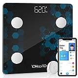 YOHOOLYO Körperfettwaage Smart Digitale Körperanalysewaage Bluetooth Waage mit App für IOS &...