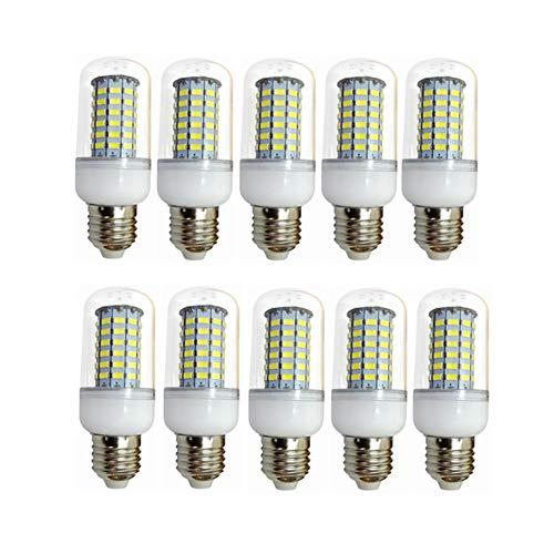 Liyuzhu Bombillas LED 12V E27 Ajuste 24V 36V 48V 10W Bulbo de maíz Luz 5730SMD 69LED AC/DC 10-60V para la Campana de RV Marina, luz Solar y Apagado de la Rejilla 10-Pack (Color : Cool White)