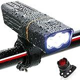 自転車 ライト ロードバイク 防水 LEDライト USB充電式 900ルーメン 5200mAH 自転車 ヘッドライト 長時間 高輝度 懐中電灯 盗難防止 360度回転 ヘッドライト フラッシュ ゴムシート付き バッテリーインジケーター 三つモード 防災 点滅 緊急対応