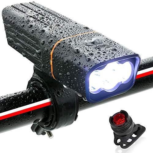 自転車 ライト ロードバイク 防水 LEDライト USB充電式 900ルーメン 2600mAH 自転車 ヘッドライト 長時間 高輝度 懐中電灯 盗難防止 360度回転 ヘッドライト フラッシュ ゴムシート付き バッテリーインジケーター 三つモード 防災 点