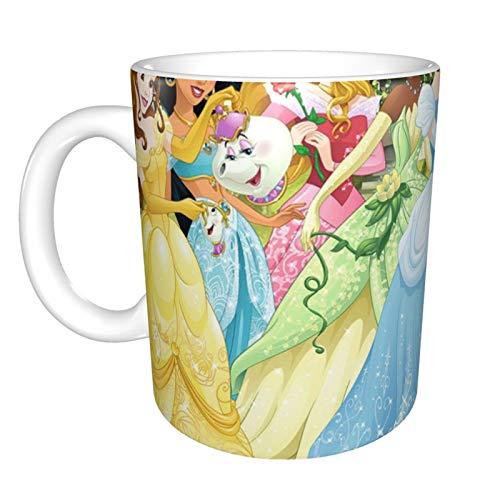 Taza de café de cerámica con diseño de princesas de Disney