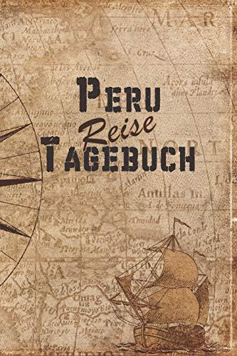 Peru Reise Tagebuch: 6x9 Reise Journal I Notizbuch mit Checklisten zum Ausfüllen I Perfektes Geschenk für den Trip nach Peru für jeden Reisenden