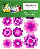 47 Prilblumen Aufkleber in 5 Größen 'Special Pink Edition', Retro Style 70er Jahre Kult, Sticker
