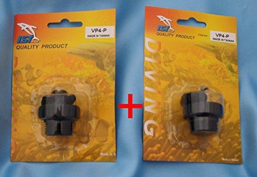 IST Proline VP4-P Blindschraube (2 Stück) Schmutz Schutz für Taucherflaschen G 5/8