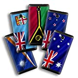 atFolix Designfolie kompatibel mit Wiko Robby, wähle Dein Lieblings-Design aus, Skin Aufkleber (Flaggen aus Australien & Ozeanien)