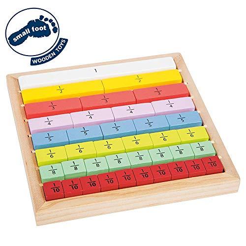 small foot company- Educate Barritas de Madera para Aprender a calcular adecuadas para niños, Practicar Las fracciones Juguetes, (Small Foot by Legler 11166)