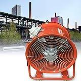Ventilador axial portátil de 18 pulgadas, 3450 rpm, 1100 W, extractor industrial de metal a prueba de explosiones, con 4 ruedas