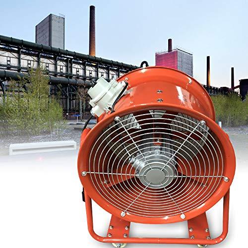 Ventilador de tubería de 220 V, ventilador de canal, 1100 W, profesional, ventilador de tuberías, extractor de tubos, ventilador de conducto, ventilador en línea, 3450 rpm (63 x 56 x 39 cm, 23 kg)