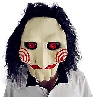 Jigsaw Jig Saw Mask Billy The Puppet Halloween Latex Horror Clown Costume