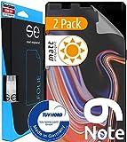 [2 pièces] 3D Film Protection écran Mat Compatible avec Samsung Galaxy Note 9 [fabriqué en Allemagne - TÜV] Auto-réparant - Mat - Pas de Verre trempé - Film de Protection écran