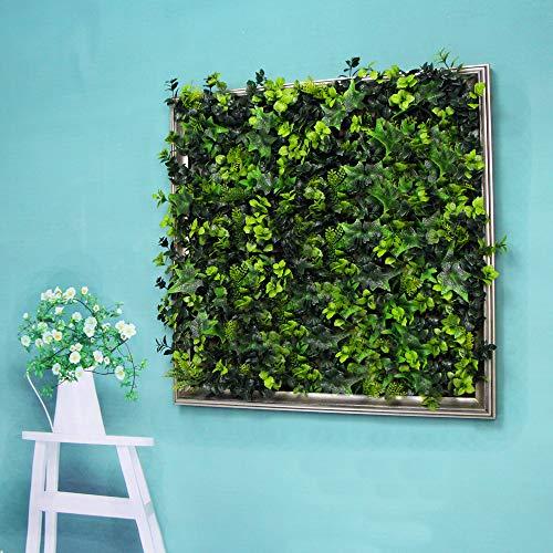 ULAND pianta artificiale incorniciata da parete, siepe artificiale quasi naturale, cornice 3D, decorazione per casa, corridoio, sala conferenze, caffetteria, F-A009