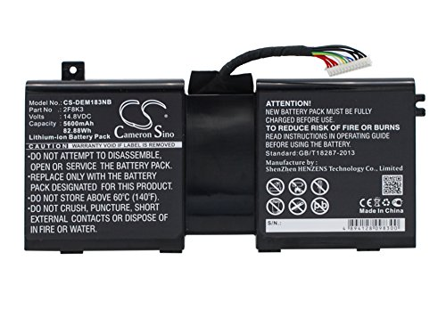 CS-DEM183NB Batería para portátil 5600mAh Compatible con [DELL] Alienware 1, Alienware 17,...
