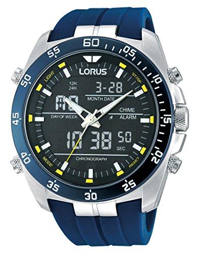 Lorus Watches Herrenuhr Analog-Digital Quarz mit Kautschukarmband – RW617AX9