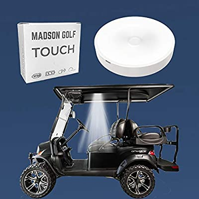 Universal Golf Cart Roof Stick On Anywhere One Touch LED Light fits Club Cart, Onward, Precedent, EZGO, Yamaha, and Garia carts, USB Rechargeable Puck Designed for Golf cart use, Great Golf Gifts