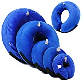 momok E-Collar Dog Recovery Protective Inflatable Soft Dog Cats Collar Cone Pet Recovery After Surgery or Wounds Prevent from Biting Scratching (XS)