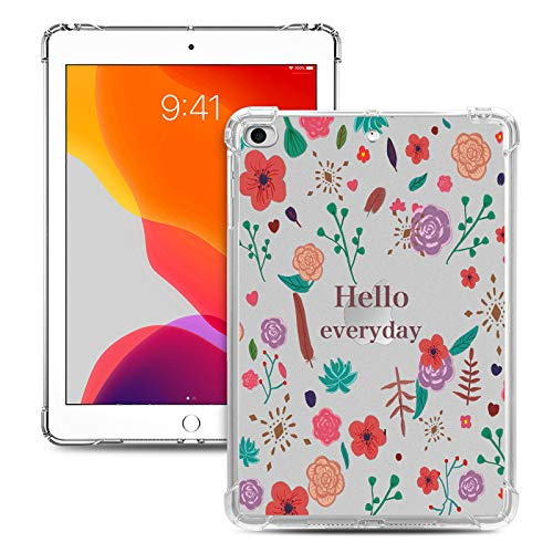 iPad Mini Case, Dteck Slim Lightweight Colorful Design [Corner Protection/Scratch Resistant] Soft TPU Clear Back Protective Cover for Apple iPad Mini 1/Mini 2/Mini 3/Mini 4/Mini 5, Hello Everyday