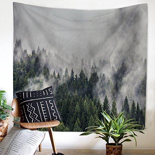 Wald Wolke Wandteppich Wandbehang Natur Landschaft Tapestry Tapisserie Wandtuch Tischdecke Strandtuch 200x150cm