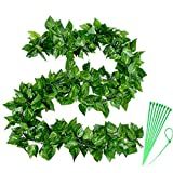 POZEAN 20 Pack Fake Vines, Artificial Ivy Garland Fake Hanging Plants 84inch/7ft Each, Greenery Garland Hanging Plant Vine for Wedding, Party, Baby Shower, Garden, Wall Decoration
