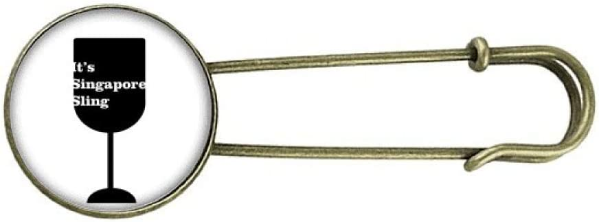 Outline of Singapore Sling Retro Jewelry Brooch Metal Clip Pin Super We OFFer at cheap prices Special SALE held