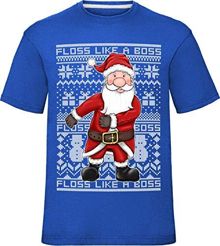 laylawson kinderen feestelijke Kerstmis Kerstmis Floss als een baas Fair Isle patroon kinderen t-shirt