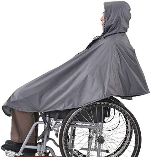 Manta de silla de ruedas, Poncho impermeable para sillas de ruedas, capa de lluvia de silla de ruedas sin mangas con capucha Stripseas de reflexión para usar impermeable para ancianos y pacientes para