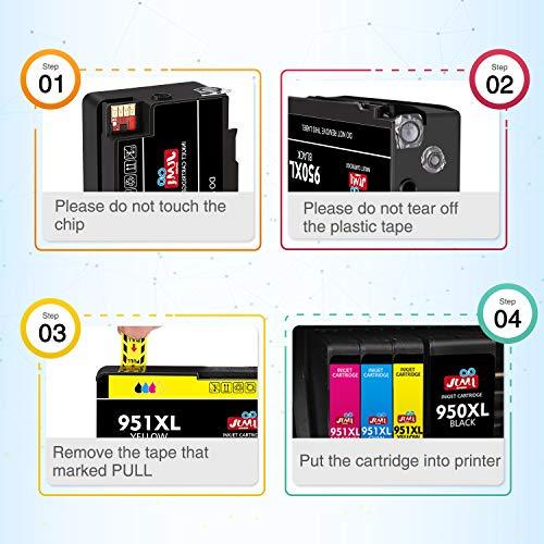 JIMIGO Compatible Ink Cartridge Replacement for HP 950XL 951XL 950 951 for Officejet Pro 8610 8600 8620 8   630 8640 8660 8100 8615 8625 251dw 271dw 276dw Printer (3 Black, 2 Cyan, 2 Magenta, 2 Yellow)