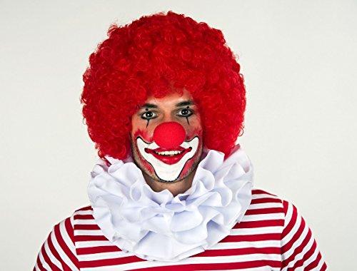 Festartikel Müller Kragen Clownkragen Clown dreilagig Weiss Einheitsgröße