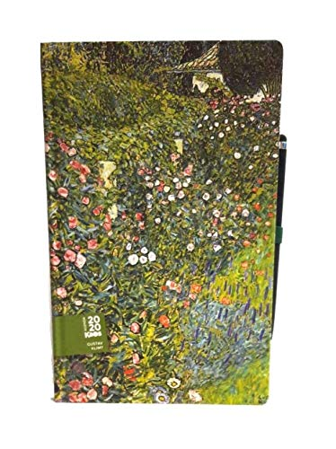 AGENDA KAOS Gustav Klimt' Giardino Italiano' 2020 12 MESI Giornaliera 9x14cm CON ELASTICO + penna touch omaggio + omaggio penna colorata + omaggio segnalibro