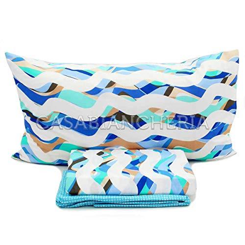 Bassetti – beddengoedset voor tweepersoonsbed – time ondaland var. 3 x 4 x lichtblauw