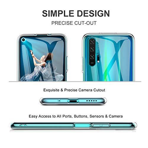 iBetter für Honor 20 Pro Hülle, Soft TPU Ultradünn Cover [Slim-Fit] [Anti-Scratch] [Shock Absorption] passt für Honor 20 Pro Smartphone - 5