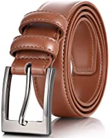 Marino's Men Genuine Leather Dress Belt with Single Prong Buckle - Tan - 36 (Waist: 34)