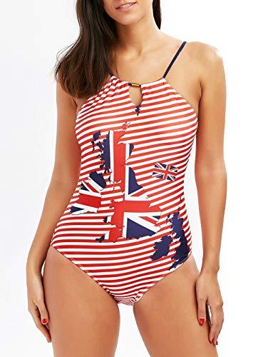 Dawwoti vrouwen een stuk halter zwempak diep V gewatteerd push-up badjurk driehoek Briefs Monokini voor dame