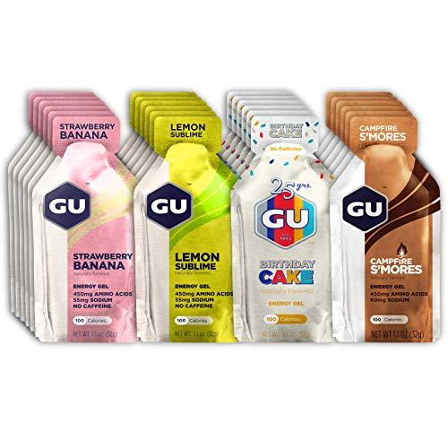 GU Energy Original Sports Nutrition Energy Gels, 24-Count, Assorted Caffeine-Free Flavors Variety Pack