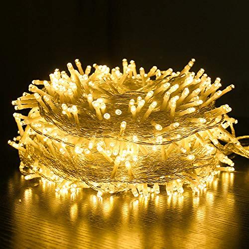 Lumières LED lumières clignotantes extérieur étanche étoilé 50M / 100M lumières décoratives barre de Noël fil de cuivre petites lumières guirlande lumineuse-blanc chaud_100M 1000leds