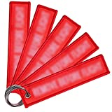 Llaveros Bordados, NALCY 5 pcs Etiquetas para Llaves Llavero Personalizado con texto Propio Llaveros Personalizados para Motocicletas, Coches, Todoterrenos, Scooters