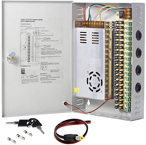 UHPPOTE 18 Channel Power Supply Switch Box CCTV Camera Distribution DC12V 30A Output