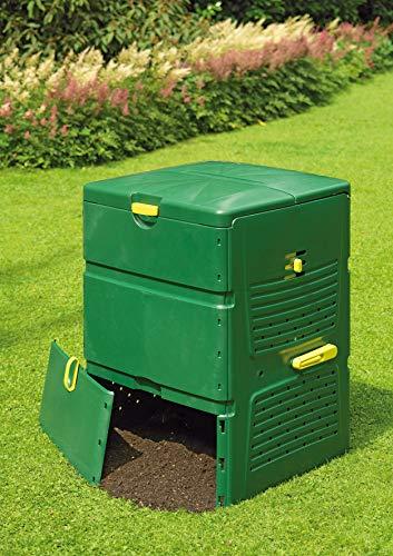 Juwel Komposter Aeroplus 6000, Kunststoff-Thermokomposter für Küchen- und Gartenabfälle, ca. 600 l Nutzinhalt, Regelbare Entlüftung, 79 x 79 x 110 cm,...