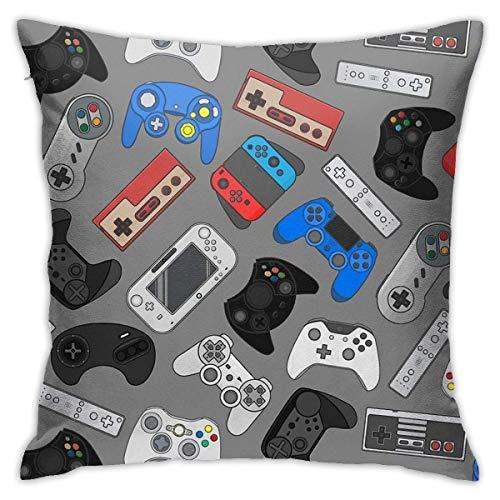 pingshang Videospiel-Controller Baground Gadgets Home Dekorative Kissenbezüge Bett Sofa Couch Kissen Quadratische Kissenbezug 18x18 Zoll