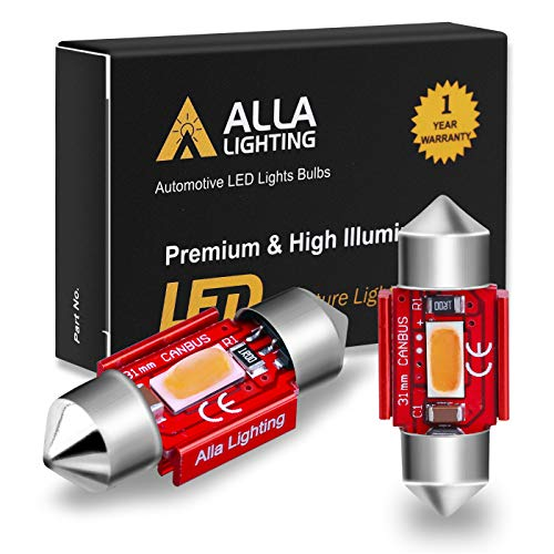 Alla Lighting 800lm Xtreme Super Bright Festoon 31MM DE3175 DE3022 LED Red Bulbs Replacement for Cars Trucks Interior Map Dome Trunk Courtesy Lights DE3021