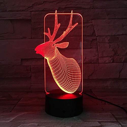 Netter Deer 3D-Tischlampe Kinder-Spielzeug-Geschenk t-Licht USB-LED Tisch Schreibtisch mit Sensor Basis-3D-Tischlampe Kinder-Spielzeug-Geschenk-690 xuwuhz