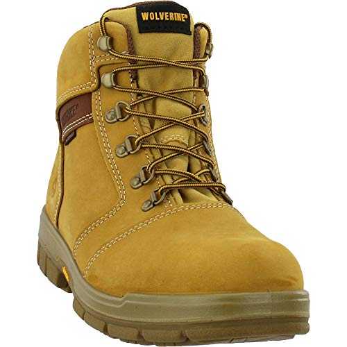 """Wolverine Mens Barkley 6"""" Insulated Waterproof EH Work s Casual Work & Safety Shoes, Beige, 11"""