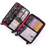 TTWLJJ Organizador de Equipaje,7 en 1 Set Impermeable Organizadores de Viaje para Maletas,3 Cubos de Embalaje 3 Bolsas...