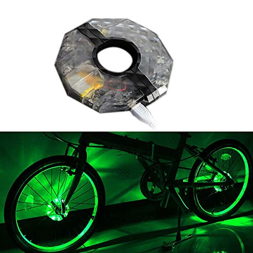 HNXCBH 1 / 2pcs LED Recargable Rueda de Bicicleta Colorido Hub Impermeable de la luz de la Bici habló Luces for la decoración de Seguridad Luces Bicicletas (Emitting Color : 1PCS)