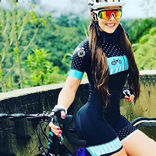 Frauen Radfahren Jersey Sommer Triathlon Outdoor Sportswear Radsport Kleidung Kurzärmeled Hemd Radfahren Kleidung Anzug (Color : 20 12, Size : XX-SMALL 20mm)