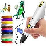 Penna per stampa 3D, penne 3D professionali intelligenti con filamento PLA 12 colori ricariche per adulti e bambini Artigianato modello fai da te