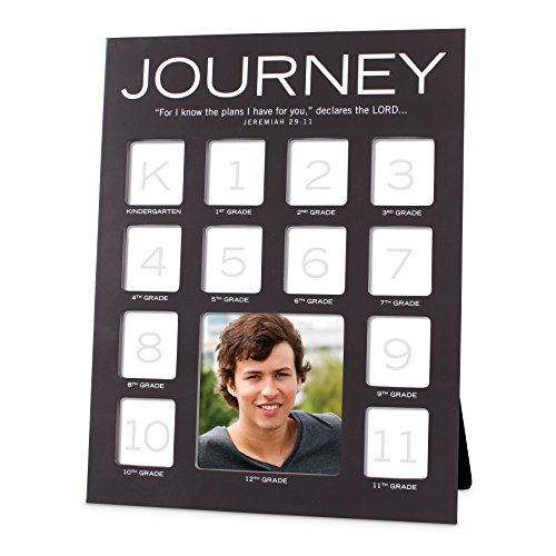 Lighthouse Christian Products Journey Through The Years White Lilac 9.25 x 12 Wood Photo Frame